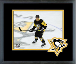 John Marino 2019-20 Pittsburgh Penguins Action -11x14 Logo Matted/Framed Photo - $42.95