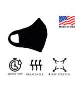 Face mask clothes unisex washable reusable double layers made in USA - $8.20