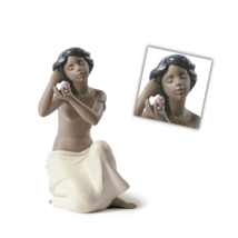 Nao by Lladro 02012023 NUDE WITH FLOWER Porcelain Figurine Gres New  - $173.25