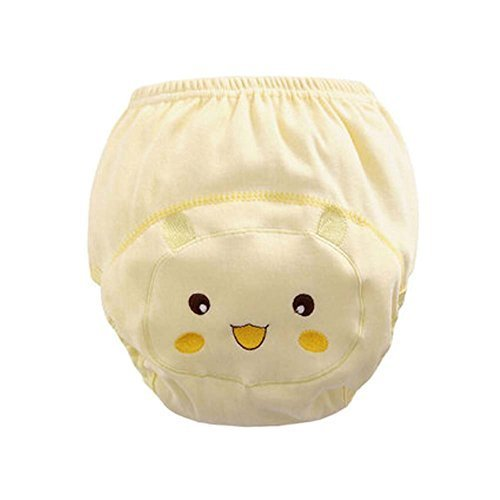 Set of 2 Newborn Baby Diapers Medium Size Yellow Smile Face Pattern
