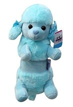 Plush Cute Animal Zipper Pencil Case Blue Poodle - $17.98