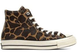 Converse Chuck Schneider Alle Star 70 Hoch Pony Haar Packung Cheetah Hel... - $104.59