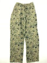 Lord & Taylor Women's Floral Print 100% Silk Palazzo Pants Size 4 Tan Te... - $18.99