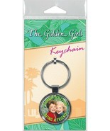 The Golden Girls Blanche and Rose Being A Friend Photo Round Metal Key C... - $4.99