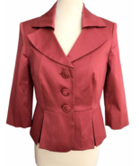 90s does 50s Vtg Laura Ashley Salmon Blush Coral Satin Ladies Rockabilly... - $64.00