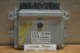 2014-2017 Nissan NV200 Engine Control Unit ECU BEM337300A2 Module 22 14C2 - $54.44