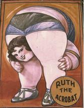 Entertainment-The Circus Acrobat, Ruth, 11x14 art print, satin canvas, s... - £13.73 GBP