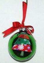 Ganz EX17055 Christmas Tree Ball Ornament Color Green Glass image 2