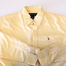 Ralph Lauren Womens Button Down Polo Size 10 Shirt Lemon Yellow Horse Lo... - $27.72