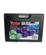 York 20 Pound Set of Vinyl Coated Fitbells in Plastic Carrying Case Barb... - $49.99