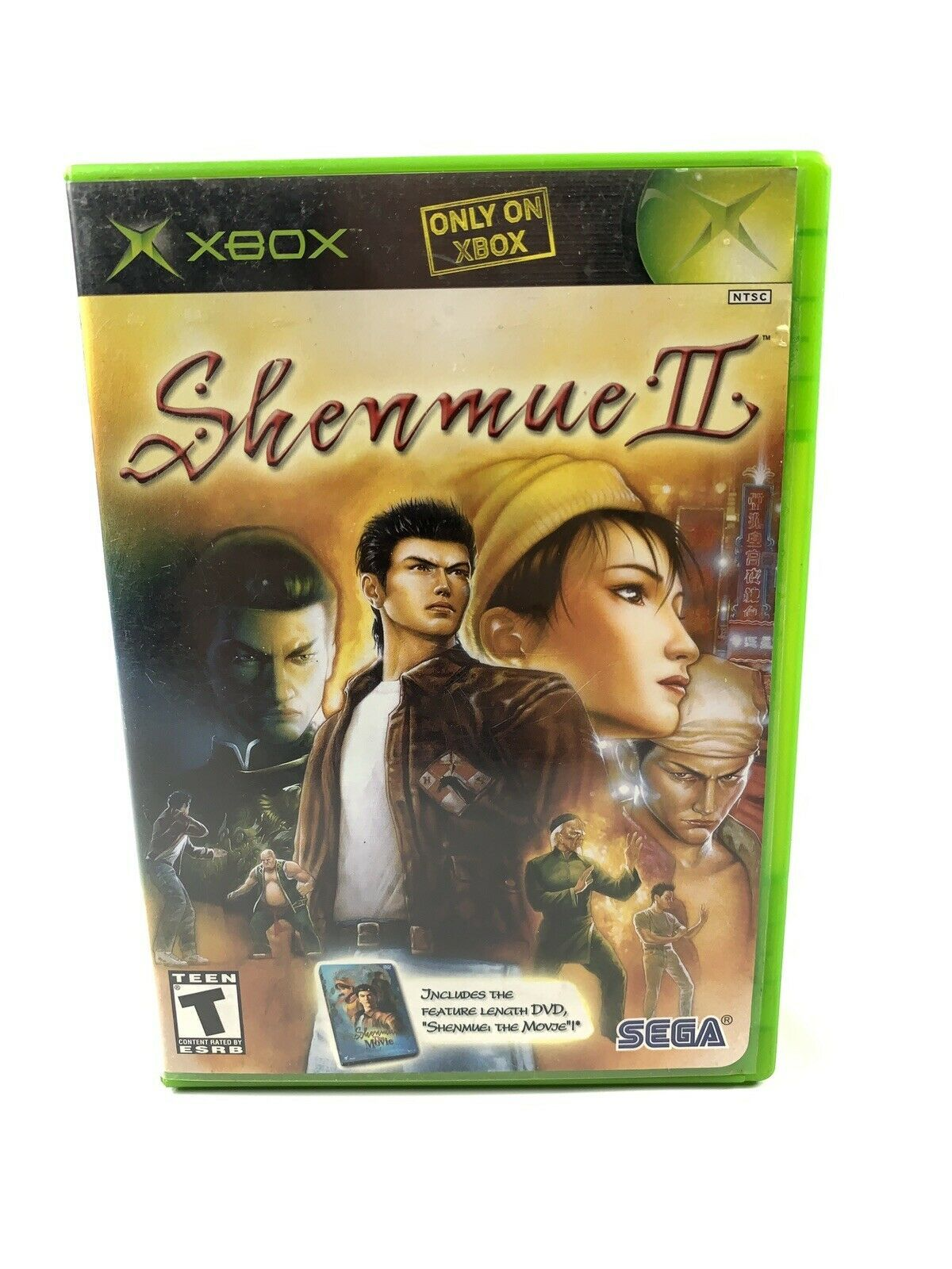 Shenmue II Microsoft Xbox, 2002 Game Case Manual Tested Working