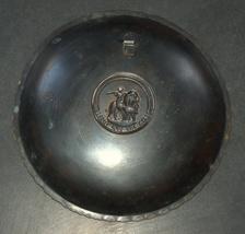 Israel Vintage Bronze Verdigris Tray Plate 1960's Isaiah 11 Signed Pal Bell image 5