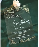 Acrylic Wedding Invitations,10pcs Custom Acrylic Menu,First Birthday Inv... - $32.00+