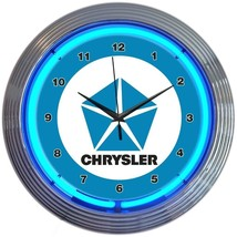 "Chrysler Pentastar Garage Neon Clock 15""x15"" - $69.00"