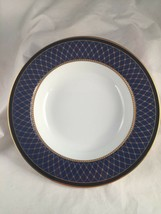 """Fitz and Floyd Chaumont II Lapis Blue Large Rimmed Soup Bowl 9"""" - $19.79"""