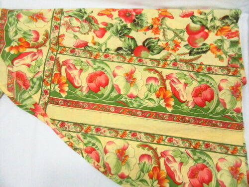 April Cornell Floral Butterflies and Fruit Yellow 70-inch Round Tablecloth - $52.00