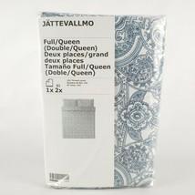 Ikea JATTEVALLMO Duvet Cover & 2 Pillowcases White Blue Paisley Full/Queen - $47.52