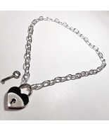 DWL Cable Chain Necklace With Silver Heart Padlock Pendant - $11.99