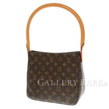 LOUIS VUITTON Looping MM Monogram Canvas M51146  Shoulder Bag France Aut... - $586.45