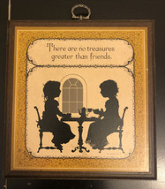 "Hallmark Wooden Plaque ""There Are No Treasures Greater Than Friends"" 1987 - $7.92"