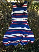 $130 Tommy Hilfiger Women's Striped Cotton A Line  Dress Size: 6 - $48.51