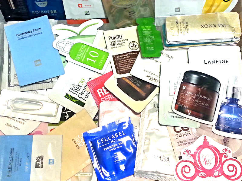 160-Piece Beauty Bag Asian Curated Korean Skincare Samples
