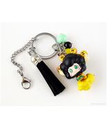 KHR Lambo Anime Figure Keychain, Black, Yellow - $20.00