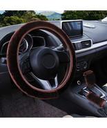 3Pcs Brown Winter Steering Wheel Cover Handbrake Car Automatic Cover/War... - $12.18