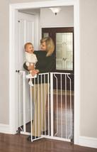 Dog Gate Indoor Tall Pet Fence Baby Barrier Adjustable Walk Thru Swingin... - $52.68