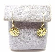 14k Gold Dangle Daisy Earrings (#J3696) - $213.75