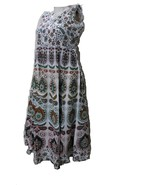 INDIAN RAJASTHAN PRINTED HAND BLOCK PRINTED GOWN TUNIC FOR WOMEN ONE PIECE - $17.30