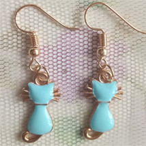 Cat Sitting Earrings # 11855 >> Combined Shipping Available - $3.25