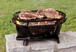 Portable Charcoal Grill Small Outdoor Grills Cast Iron BBQ Grilling Pre-... - $117.62