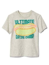Gap Kids Boy T-shirt 5 Oatmeal Gray Graphic Glow in the Dark Short Sleev... - $16.95