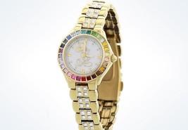 Disney Parks Mickey Rainbow Bezel Watch by Sutton New with Case - $120.95