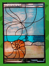 "Stained Glass Window Panel ""Shell"" - $398.00"