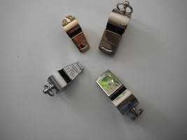 Collection of x4 whistles ♫ ♬♪ All metal clean different manufacturers F... - $29.70