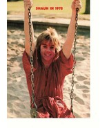 Shaun Cassidy teen magazine pinup clipping swinging on a swing in the sa... - $3.50