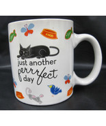 Cat Kitty Kitten 2008 Boston Warehouse Coffee Tea Cocoa Cup Mug Container Black - $19.95