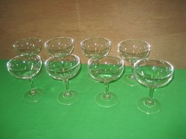 Set of 8 Clear Crystal Glass Glassware Stemware Stem Wine Champagne Gobl... - $19.75