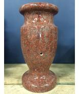 India Red Granite Monument Gravestone Memorial Flower Vase 12x5.5-A  - $98.01