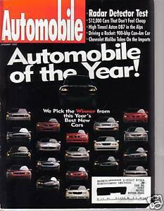 Primary image for Automobile January 1997  Magazine