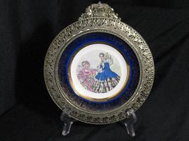 Century Salem 23k Gold trim Fancy Frame Plate Victorian women Civil war ... - $15.76