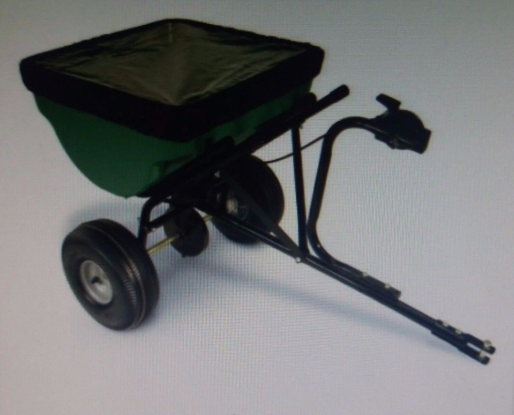 100lb Capacity Tow-Behind Semi- Cast Spreader Snapper 885393 Power & Han