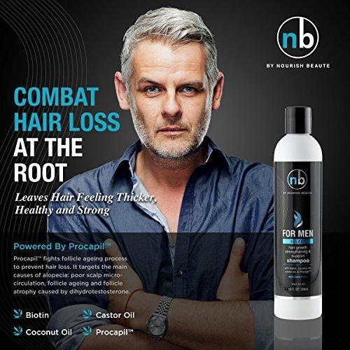 Hair Regrowth Shampoo for Men - Anti Hair Loss Shampoo - Vitamins Hair Growth Su