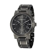 Burberry Men's Watch BU9354 Dark Grey Dial Black Ion-plated With Burberr... - $229.00
