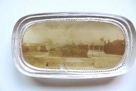 Original Glas Werbung Briefbeschwerer, Peristyle & Band Ständer - $24.86