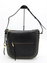NWT Cole Haan Marli Black Leather Gold Studded Bucket Hobo Shoulder Bag ... - $198.00