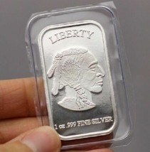 1 oz .999 Fine Silver Buffalo Liberty Bar (Sealed in Plastic) SKU40117 - $24.74