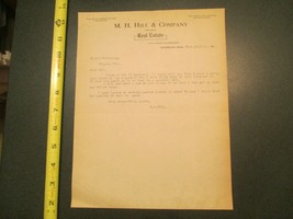 Waterloo Iowa M H Hill & Co Dealers Real Estate 1915 IA Letterhead 896 - $10.99